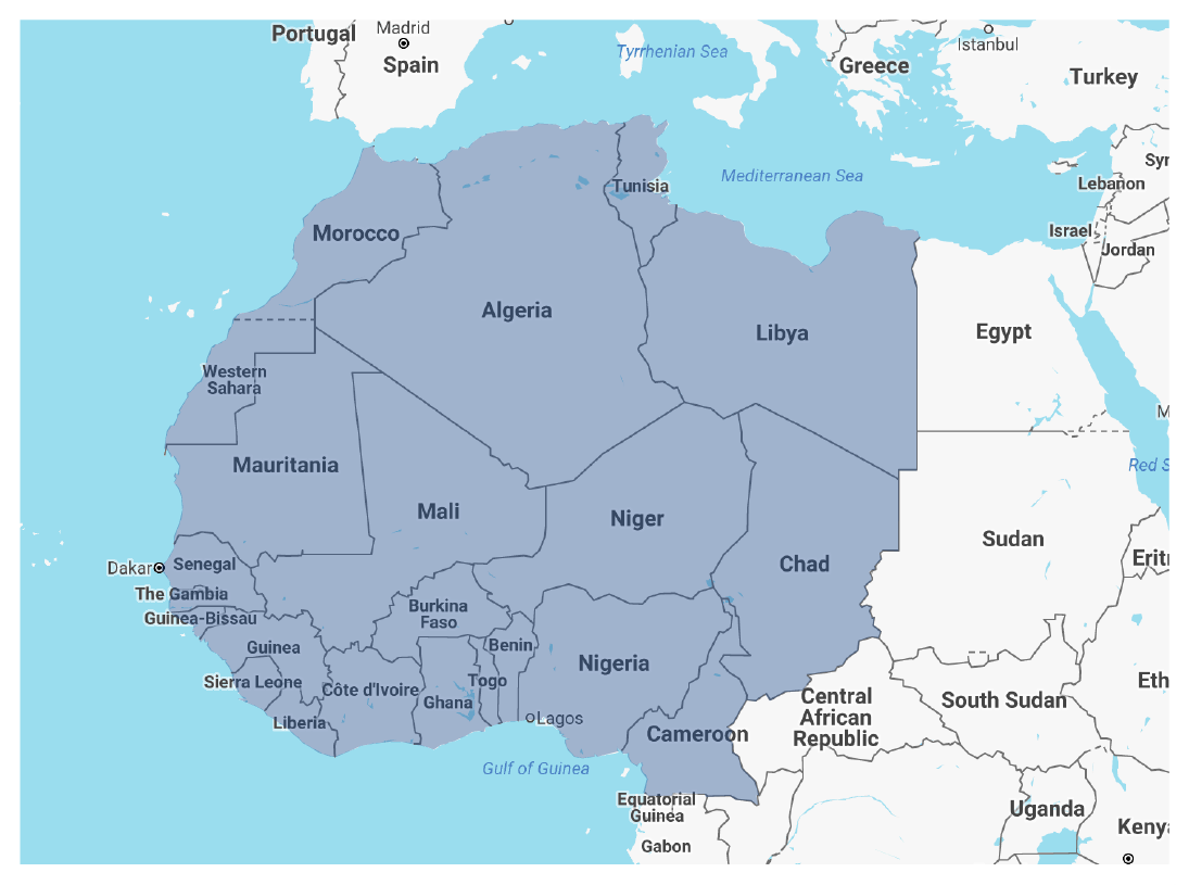 North Africa Sahel map picture