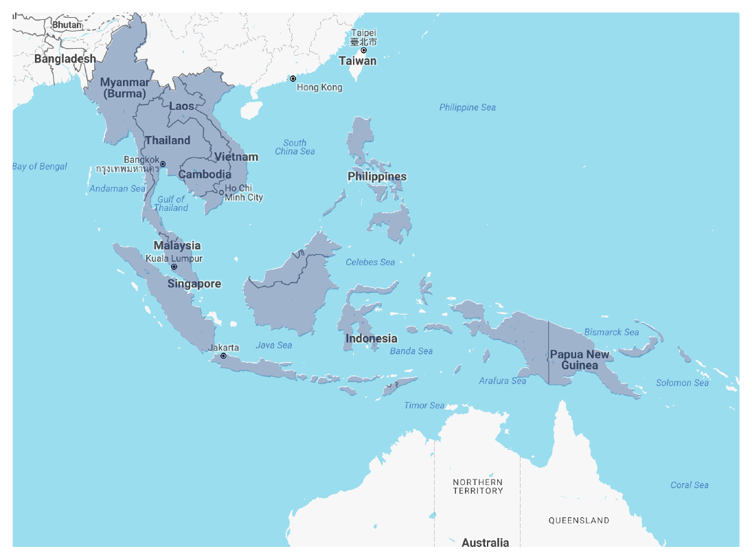 Southeast Asia map picture